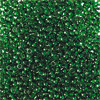 Rocailles green transparent, 3.5 mm, 17g