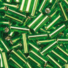 bugle beads dark green 6,8 x 2,2 - 17g