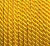 Viscose cord yellow, 4mm, 25m roll