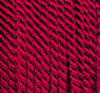 Viscose cord bordeaux, 2mm, 50m roll