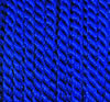 Viscose cord dark blue, 4mm, 25m roll
