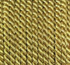 Viscose cord golden, 4mm, 25m roll