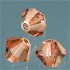 CRYSTALLIZED™ Bicone LIGHT SMOKED TOPAZ 4mm, 25 Stück