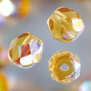 glass facet beads 4mm