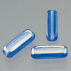 glass bead rectangle flat dark blue AB, 15 x 5 mm