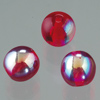 glass bead round dark red AB, 6mm, 50 pcs.