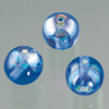 glass bead round dark blue AB, 6mm, 50 pcs.