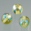 glass bead round olive AB, 6mm, 50 pcs.