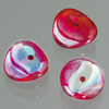 glass bead nuggets red AB, 4 x 9 mm, 30 pcs.