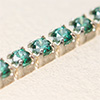 Swarovski JEWELCHAIN silver 925, CZ green TCF 1,5mm, 5cm