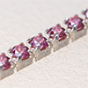 Swarovski JEWELCHAIN Silver 925, CZ red TCF 1,5mm, 5cm