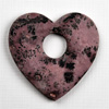 heart pendant - lilac-grey 70x70mm, 1 pcs.
