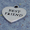 "charm: heart ""best friend"" 15 mm"