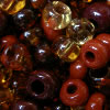 "Glass beads ""shade in shade - brown"""