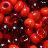 "Glass beads ""shade in shade - red"""