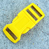 click buckle yellow, 20mm, 1 pc.