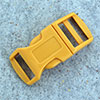 click buckle golden yellow, 20mm, 1 pc.