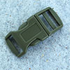 click buckle olive green, 20mm, 1 pc.