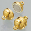 Magnetic clasps, gold-plated, ball