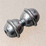 "magnetic catch ""two balls"", platinium coloured, 2 mm"