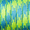 Paracord 550 mixed colours blue-green, 2x4mm, 4m