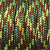 Paracord 550 mixed colours neon green-olive-green-brown, 2x4mm, 4m