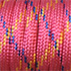 Paracord 550 mixed colours pink-blue-yellow, 2x4mm, 4m