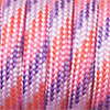Paracord 550 mixed colours red-pink-lilac, 2x4mm, 4m