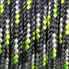 Paracord mixed colours black-white-light green, 2mm, 50m