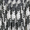 Paracord mixed colours black-white, 2mm, 50m
