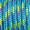 Paracord mixed colours turquoise-violet-light green, 2mm, 50m