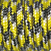 Paracord mixed colours yellow-black-white, 2mm, 50m