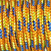 Paracord Farbmix orange-blau-hellgrün, 2mm, 50m