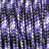 Paracord mixed colours black-violet-white, 2mm, 50m