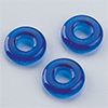 "glas bead ""ring"" big whole blue, 3 x 10mm, 12 pcs."