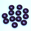 "glas bead ""ring"" big whole purple, 3 x 10mm, 12 pcs."