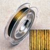 Stainless steel wire, 0.38mm, 10 m, gold
