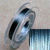 Stainless steel wire, 0.38mm, 10 m, platinium coloured