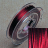 Stainless steel wire, 0.38mm, 10 m, red