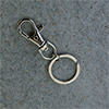 Carabineer for bags 39 mm with key ring, rotating
