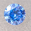 Swarovski Zirconia artic blue TCF™ round 3mm, 1 pc.