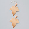 Pendant leaf copper - 1 hole - 2 pcs.