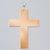 copper pendant cross with loop