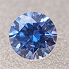 Swarovski Zirconia fancy blue TCF™ round 2mm, 1 pc.