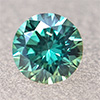 Swarovski Zirconia fancy green TCF™ round 3mm, 1 pc.