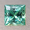 Swarovski Zirconia fancy green TCF™ Square Princess 5x5mm, 1 pc.