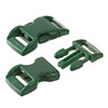 click buckle dark green, 20mm, 1 pc.