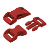 click buckle dark red, 20mm, 1 pc.