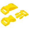 click buckle yellow, 14mm, 1 pc.