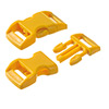 click buckle golden yellow, 14mm, 1 pc.